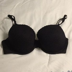 Black bra with lace overlay - never worn